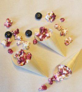 popcorn myrtille carré